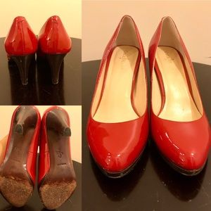 Cole Haan Red Patent Leather Pumps